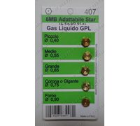 Набор жиклеров на балонный газ (Комплект для сжиженного газа Винт - Ключ 7; М6; Ø-0.40мм; Ø-0.55мм; Ø-0.65мм; Ø-0.75мм; Ø-0.90мм) для духовки Zanussi Electrolux AEG