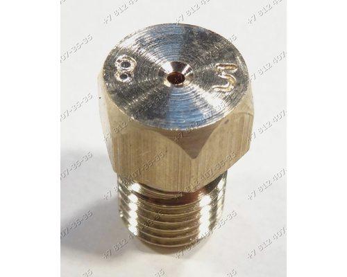 Жиклер для сжиженного (баллонного) газа диаметр резьбы M6 шаг резьбы 0,75 Ø-0.85мм для многих марок и моделей плит