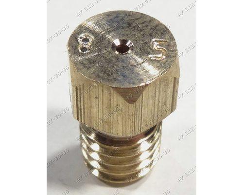 Жиклер для сжиженного (баллонного) газа диаметр резьбы M6 шаг резьбы 1,0 Ø-0.85 мм для плиты