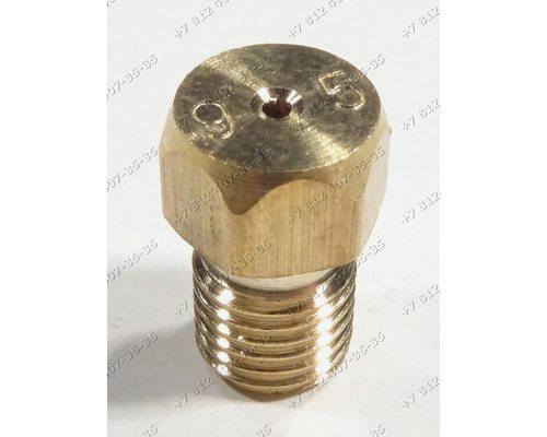 Жиклер для сжиженного (баллонного) газа диаметр резьбы M6 шаг резьбы 0,75 Ø-0.95 мм для плиты