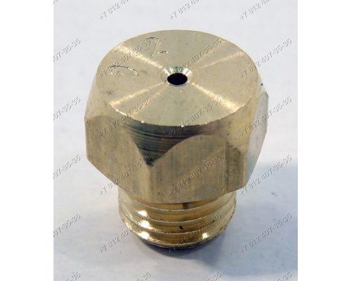 """Жиклер для большой горелки газовой плиты Гефест на баллонный (""""сжиженный"""") газ D 0,92 мм M6 шаг резьбы 0,75 мм, ключ 8 1200.00.0.053-04"""