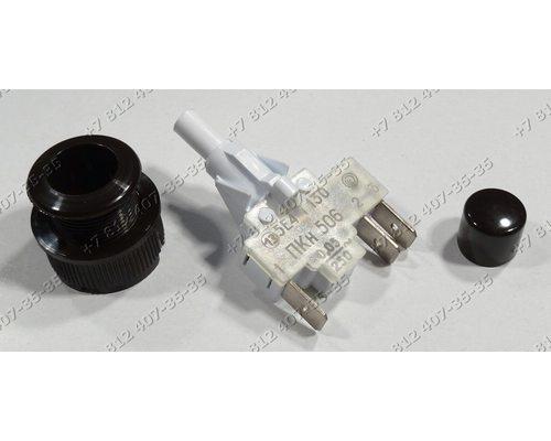 Переключатель кнопка розжига ПКН506.2-444 коричневая для плиты Гефест Дарина