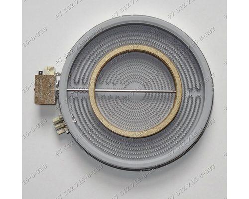 Конфорка (стекло двухзонная D=120мм(140мм)/210мм(230мм) 2200/750W) стеклокерамика для плиты Electrolux