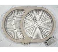 Конфорка для стеклокерамики плиты Zanussi ZK630LN09O 949592175-00, ZK630F EU2, ZK631F EU2