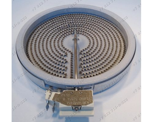 Конфорка 1800W 175(200)мм стеклокерамика для плиты Hansa BCCI616234 BCCI67036070