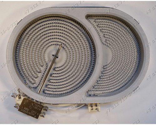 Конфорка двухзонная для стеклокерамической плиты Bosch, Siemens - утятница - 10.57413.688 диаметр общий 285 мм/190 мм мощность 2400W/1600W - ОРИГИНАЛ!