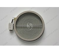 Конфорка для стеклокерамической плиты D = 180 мм (200 мм) 1800W с датчиком остаточного тепла