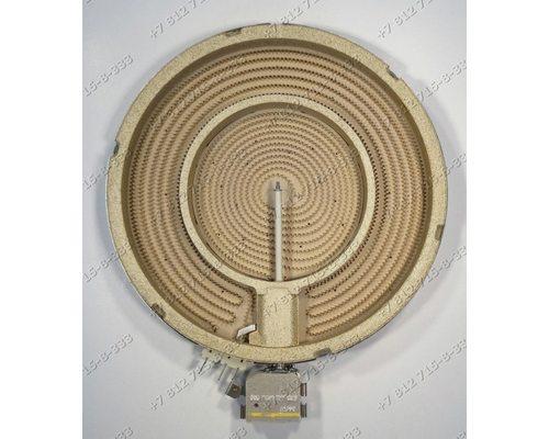Конфорка 230 мм(210 мм)-140 мм(120мм) 2100W/700W стеклокерамики для плиты Whirlpool
