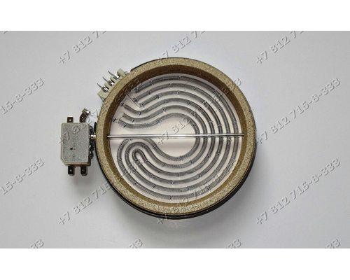 Конфорка D=140мм(165мм) 1200W 1650734811 стеклокерамика для плиты Beko CSE57100GS 7786988317 FSM67320GWS