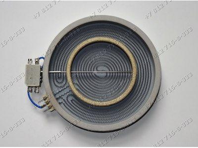 Конфорка стекло двухконтурная 210/120 мм 2200W/800W 2302333841 стеклокерамика для плиты Gorenje EC65348DW
