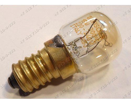 Лампочка духовки E14 300C 15W миньон L-47мм на любые плиты, в том числе Beko CSE57100GS 7786988317