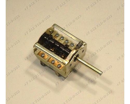 Переключатель мощности конфорок ПМ-7 7-позиционный длина вала 39 мм плиты Электра, Нововятка