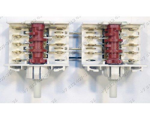 Блок переключателей 5HE/551 сдвоенный 461961503671 для плиты Whirlpool 481227018037