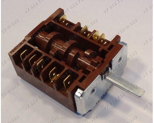 Переключатель мощности конфорок 7 позиций, длина вала 21 мм для плиты Мечта