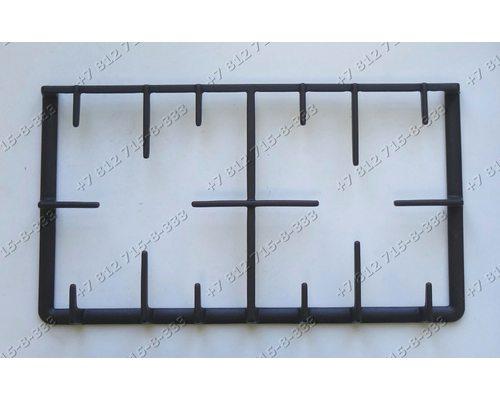 Решетка сверху 275*495 мм чугунная - половинки для плиты Гефест 1500, 6500