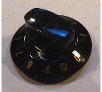 Ручка переключения конфорок (черная золотые цифры от 0 до 9) для плиты Gorenje