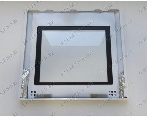 Внешнее стекло духовки в сборе с пластиковой окантовкой Beko CS58000