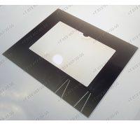 Внешнее стекло духовки газовой плиты Гефест 3100, 3200, 3101, 3110 и т.д. 498*409*4 мм Коричневое