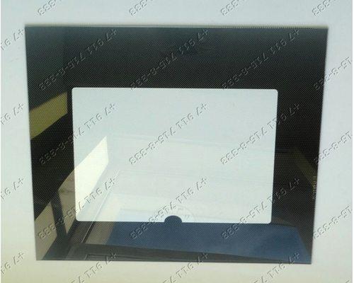Внешнее стекло духовки газовой плиты Гефест 3100, 3200, 3101, 3110 и т.д. 498*409*4 мм Черное