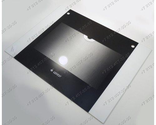 Внешнее стекло духовки газовой плиты Гефест 6100-00 6100-01 6110-00 и т.д. 598*448 мм Черное