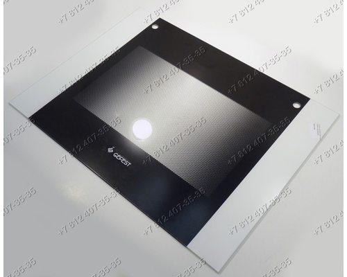 Внешнее стекло духовки газовой плиты Гефест 6100 6140 6100-00 6100-01 6110-00 и т.д. 598*448 мм Черное без термоуказателя