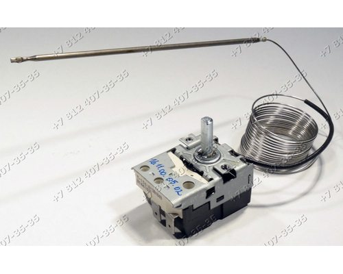 Регулируемый термостат - Терморегулятор капиллярный 50-320°C, 2,2 м 014416B 16A на духовку Eika АБАТ ABAT
