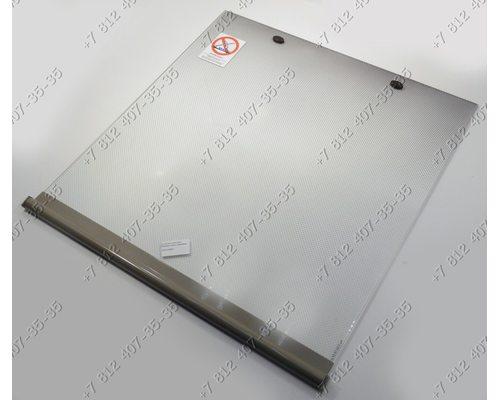 Верхняя крышка 495 мм * 520 мм стеклянная для плиты Gefest 3200, 3300 - СЕРАЯ