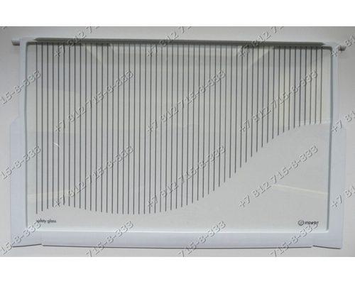 Cтеклянная полка 520*320 мм 14803530700 для холодильника Indesit