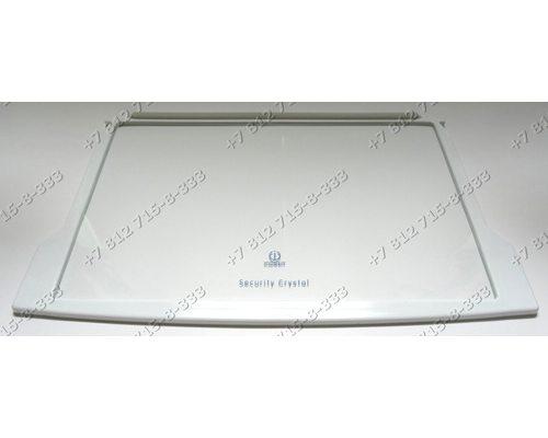Cтеклянная полка (с обрамлением 148033436400) для холодильника Indesit