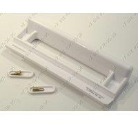 Ручка для холодильника универсальная белая, длина 200 мм, расстояние между отверстиями 120-176 мм
