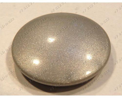 Заглушка ручки серебристая круглая 15 мм для холодильника Gorenje