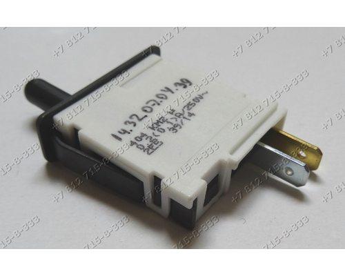 Выключатель света 2 контакта 404 KM1 KM2 длина штока 1,5 см холодильника Bosch