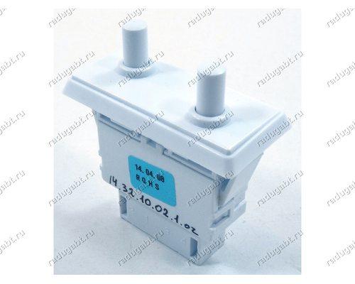 Выключатель света для холодильника Samsung двухкнопочный на 4 контакта DA34-00048A