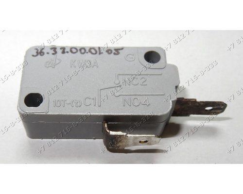 Микровыключатель KW3A 2 контакта для свч Midea MM717CMF Elenberg MS-2003M MS2003M Apollo M8017P-A M8017PA
