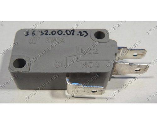 Микровыключатель KW3A 3 контакта для свч Midea MM717CMF