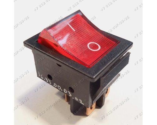 Клавиша включения - выключатель широкая, 2 положения, 4 контакта, KCD2 30A 250V