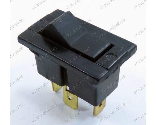 Клавиша включения - выключатель прямоугольная 3 контакта 10АT150 Электра Ново-Вятка Нововятка