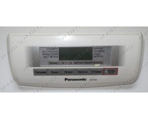 Плата индикации в сборе с передней панелью для хлебопечки Panasonic SD254