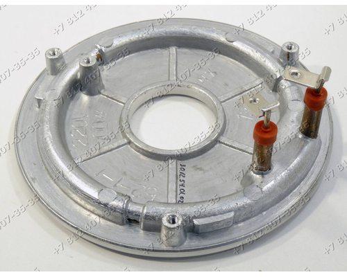 Тэн нижний 700W 2 контакта под винты, круглый, диаметр 155 мм для мультиварки Polaris