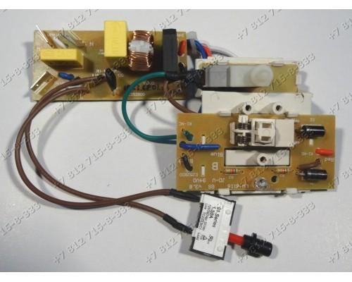 Электронный модуль в сборе с платой индикации, проводкой, сетевым выключателем и микровыключателем для мясорубки Supra MGS-1750, MGS1750