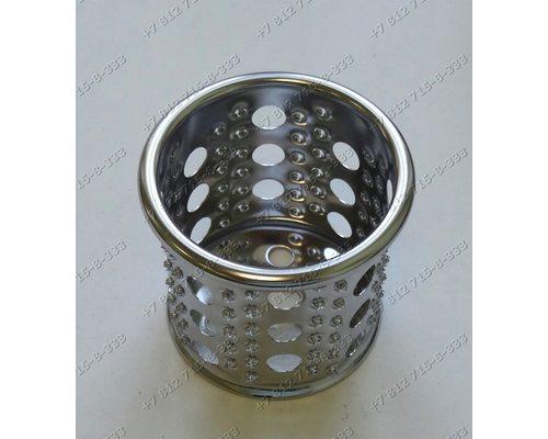 Барабанчик овощерезки (крупные и мелкие отверстия) для мясорубки Bork MGRNP1215WT, Supra MGS1750, Vitek VT1677W, Bosch MFW68660, Redmond RMG-1203-8 RMG1203