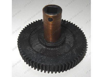 Черная шестеренка (с бронзовой втулкой) для мясорубок Хозяюшка
