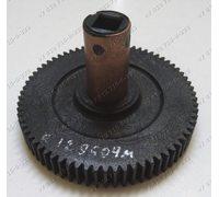 Черная шестеренка (72 мм, бронзовая втулка) для мясорубок Хозяюшка