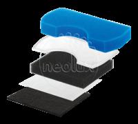 Набор фильтров для пылесоса Samsung SC15... SC43... SC44... SC45... SC47... и т.д. Neolux FSM-05 - НЕОРИГИНАЛ