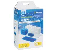 Комплект фильтров пылесоса Thomas Twin, Twin TT, Twin T2, Genius, Syntho, Victor и т.д.- Neolux HTS-01 комплект из 5 штук