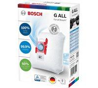 Мешки для пылесоса Bosch, Siemens Type G ALL BBZ41FGALL - микрофибра, увеличенного объема, оригинал - комплект из 4 штук!