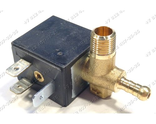 Клапан электромагнитный OLAB 4W 1/8 90° для утюга Delonghi, Kenwood