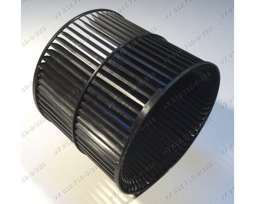 Крыльчатка двигателя для вытяжки Whirlpool, Ikea, Elica, Bauknecht L 130 мм, D 148 мм, Диаметр вала 6 мм