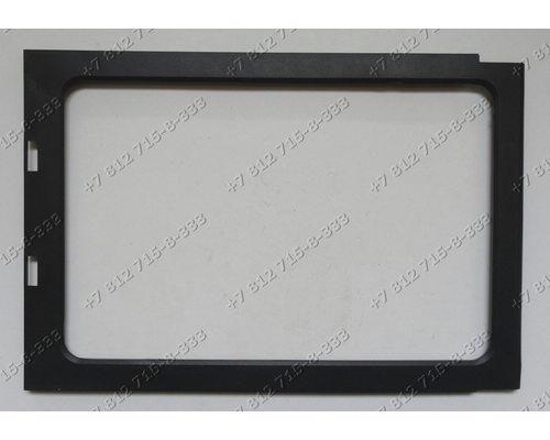 Часть двери - черная рамка для микроволновой печи Midea MM717CMF