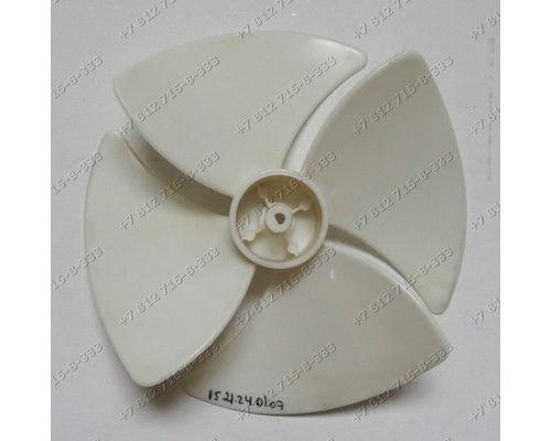 Крыльчатка вентилятора для СВЧ Elenberg, Midea, Supra, Zanussi, BBK и т.д. WB18-04